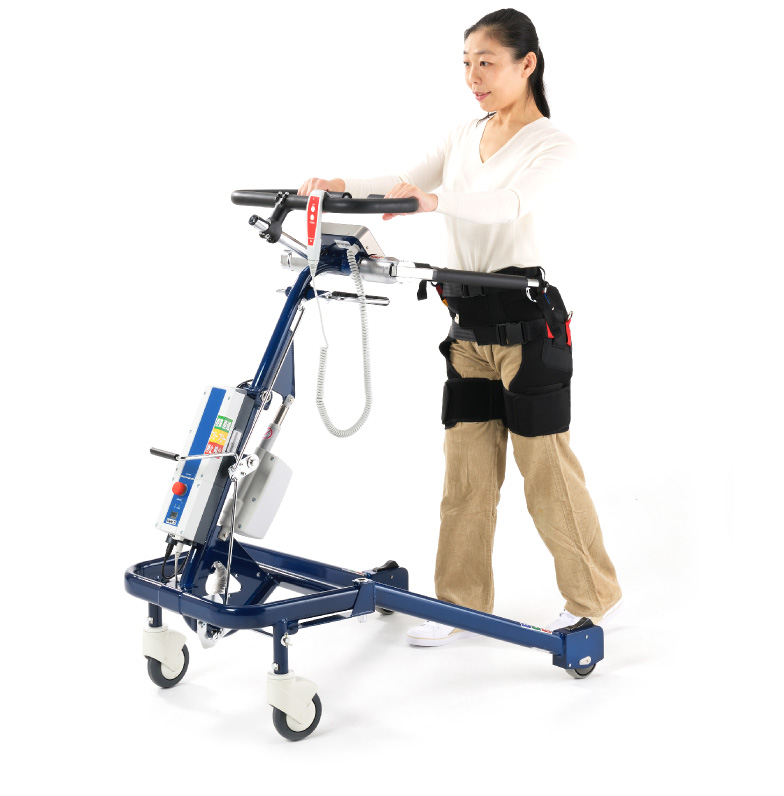 Using a walking relief lift POPO