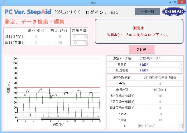 Optional software for One foot type (PCSA)