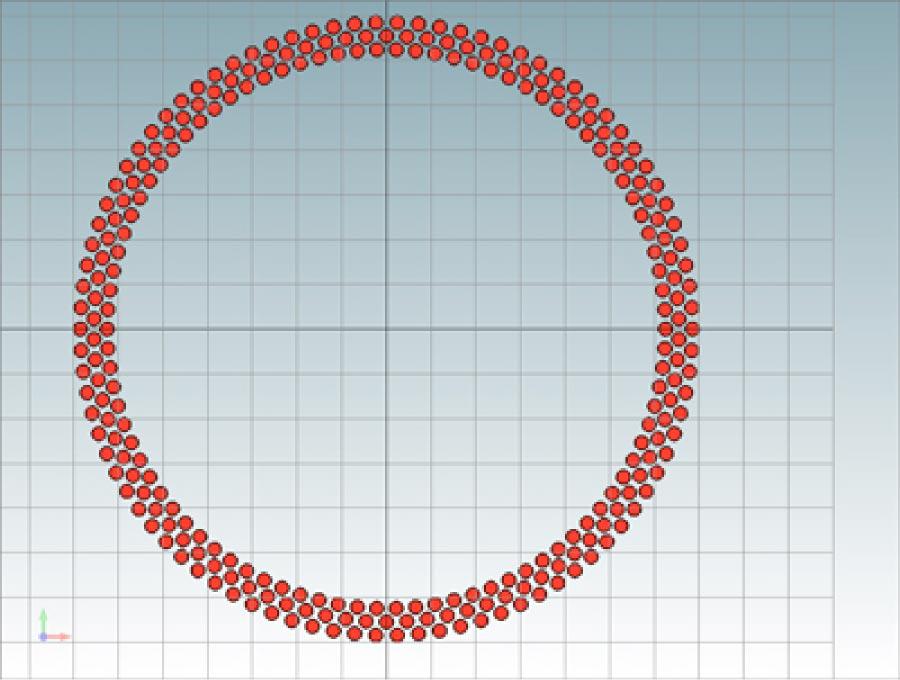 Light source layout simulation